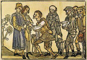 Feudalherrschaft, mittelalterliche Illustration