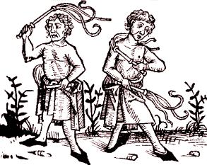 Flagellanten, Holzschnitt 1493